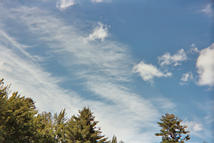 image of feathery cirrus with cumulus